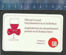 GB GRAND BAZAR  VINS DE FRANCE LES MILLÉSIMES COTÉS ETOILES - 1975 - 1989 - Calendriers