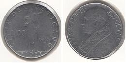 Vaticano 100 Lire 1955  Papa Pio XII Km#55 - Used - Vaticano