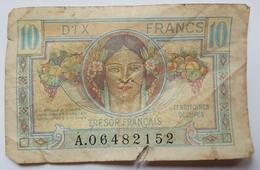 BILLET - FRANCE - P.M.7a - 10 FRANCS -TRESOR FRANCAIS - TERRITOIRES OCCUPES - MOISSON - Tesoro