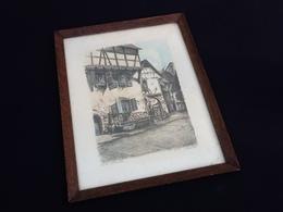 Lithographie Riquewhir (Haut-Rhin) En Allemand Reichenweier Artiste Jules Klippstiehl (1904-1965) 82/100 - Lithographies