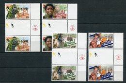 """Vanuatu - Mi.Nr. 1141 / 1144 Zwischensteg / Gutter-Pair - """"Traditionelle Tänze"""" ** / MNH (aus Dem Jahr 2001) - Vanuatu (1980-...)"""