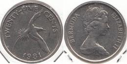 Bermuda 25 Cents 1981 KM18 - Used - Bermuda