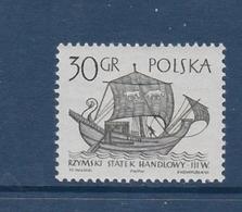 ALTE SEGELSCHIFFE OLD SAIL SHIPS VIEUX NAVIRES À VOILE ROME RÖMISCHES HANDELSSCHIFF POLAND 1963 MI 1386 MNH - Bateaux