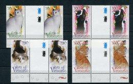 """Vanuatu - Mi.Nr. 1420 / 1423 Zwischensteg / Gutter-Pair - """"Katzen"""" ** / MNH (aus Dem Jahr 2010) - Vanuatu (1980-...)"""
