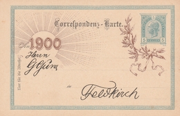 Ganzsache Karte 1900-Feldkirch - Enteros Postales