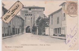 01 Châtillon-sur-Chalaronne - Cpa / Porte De Villars. - Châtillon-sur-Chalaronne