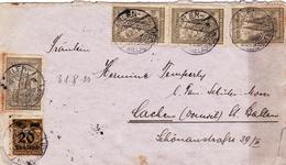 Lettre Rielasingen Arlen Deutschland 1923 Lachen St. Gallen Schweiz Switzerland Suisse - Brieven En Documenten