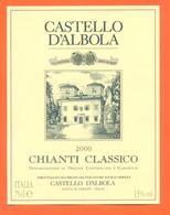 étiquette Vin Italie Vino Italiano Chianti Classico 2000 Castello D'albola - 75 Cl - Etiketten