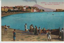220-Pescatori Napoletani-Vulcano Vesuvio-v.1904? Da Napoli X Reggio Calabria. - Pesca