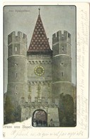 Gruss Aus Basel --  Das Spalenthor  ( 2 SCANS ) - BS Bâle-Ville