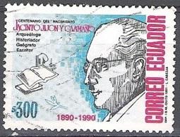Ecuador 1991 Michel 2202 O Cote (2005) 0.60 Euro Archéologue Jacinto Jijón Y Caamaño - Equateur