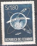 Ecuador 1958 Michel 992 O Cote (2005) 0.50 Euro Année Géophysique Internationale Cachet Rond - Equateur