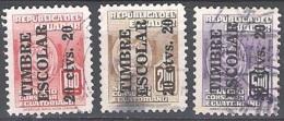 Ecuador 1951 Michel Bienfaisance 66 - 68 O Cote (2005) 0.90 Euro Armoirie Cachet Rond - Equateur