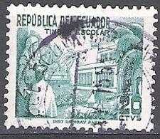 Ecuador 1952 Michel Bienfaisance 69 O Cote (2005) 0.30 Euro Ecole Dans Le Jardin Avec Professeur Cachet Rond - Ecuador