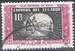 Ecuador 1948 Michel 699 O Cote (2005) 0.20 Euro Pont-aqueduc De Riobamba Cachet Rond - Ecuador