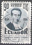 Ecuador 1954 Michel 858 O Cote (2005) 0.10 Euro Francisco Febres-Cordero Cachet Rond - Ecuador