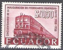 Ecuador 1959 Michel 971 O Cote (2005) 0.10 Euro Locomotive Diesel Cachet Rond - Equateur
