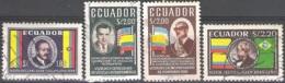 Ecuador 1958 Michel 964 - 967 O Cote (2005) 0.80 Euro Présidents Cachet Rond - Ecuador
