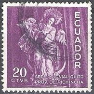 Ecuador 1959 Michel 1006 O Cote (2005) 0.20 Euro Vierge De Quito Cachet Rond - Equateur