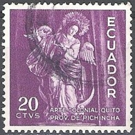 Ecuador 1959 Michel 1006 O Cote (2005) 0.20 Euro Vierge De Quito Cachet Rond - Ecuador