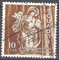 Ecuador 1959 Michel 1005 O Cote (2005) 0.20 Euro Vierge De Quito Cachet Rond - Ecuador