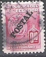 Ecuador 1951 Michel 757 O Cote (2005) 0.30 Euro Armoirie Cachet Rond - Ecuador