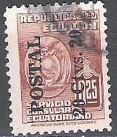 Ecuador 1951 Michel 758 O Cote (2005) 0.30 Euro Armoirie Cachet Rond - Equateur