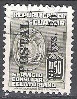 Ecuador 1951 Michel 759 O Cote (2005) 0.30 Euro Armoirie Cachet Rond - Equateur