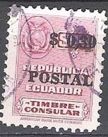 Ecuador 1951 Michel 760 O Cote (2005) 0.30 Euro Armoirie Cachet Rond - Equateur