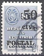 Ecuador 1951 Michel 762 O Cote (2005) 0.30 Euro Armoirie Cachet Rond - Equateur