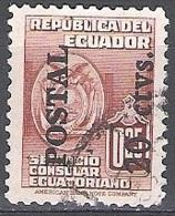 Ecuador 1949 Michel 732 O Cote (2005) 0.10 Euro Armoirie Cachet Rond - Ecuador