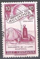 Ecuador 1949 Michel 724 O Cote (2005) 0.10 Euro Monument De L'equateur Cachet Rond - Equateur