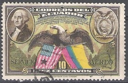Ecuador 1938 Michel 398 O Cote (2005) 0.10 Euro Président George Washington Cachet Rond - Equateur