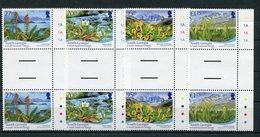 """Südgeorgien - Mi.Nr. 515 / 518 Zwischensteg / Gutter-Pair - """"Einheimische Flora"""" ** / MNH (aus Dem Jahr 2010) - South Georgia"""