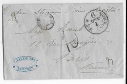 1857 - MARITIME - LETTRE De NEW YORK (USA) => PARIS - Postal History