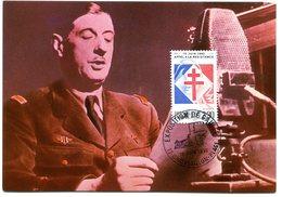 Thème Général De Gaulle - CP Avec Bureau Temporaire Chatelaillon Plage Du 18 Juin 1990 - X 51 - De Gaulle (General)