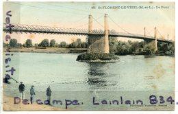 - St-FLORENT Le VIEIL - ( M. Et L. ), Le Pont, épaisse, Non écrite, Cliché Rare, ,Phototypie Vassellier, BE, Scans. - Autres Communes