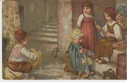 219-Mestieri-Bambini Filatori E Tessitori Di Lana-v.1922 Da Girgenti Oggi Agrigento X Palermo - Paesani