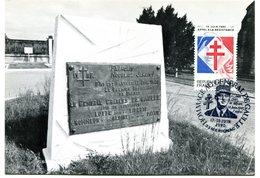 Thème Général De Gaulle - CP Avec Bureau Temporaire Merignac Du 17 & 18 Juin 1990 - X 60 - De Gaulle (Général)