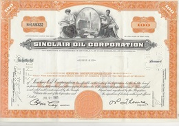 ETATS UNIS -ACTION ILLUSTREE - SINCLAIR OIL CORPORATION - ANNEE 1965 - Industrie