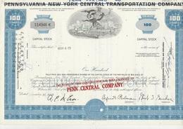 ETATS UNIS -ACTION ILLUSTREE - PENNSYLVANIA NEW YORK  PEN CENTRAL COMPANY - Industrie