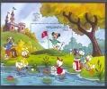 NctD192 WALT DISNEY MICKEY GOLF KASTEEL KIKKER CASTLE FROG GOOFY LONDON EXPO MALDIVES 1990 PF/MNH - Disney