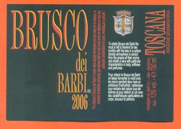 étiquette Vin Italie Vino Italiano Brusco Dei Barbi 2006 Toscana - 75 Cl - Etiketten
