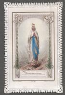Image Pieuse- CANIVET XIXème - Dévotion à N-D De Lourdes,couleur.Planche N° 417 Edit, Ch.Letaille, Paris - Devotion Images