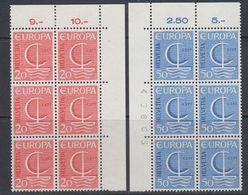 Europa Cept 1966 Switzerland 2v Bl Of 6  ** Mnh (40871G) - 1966