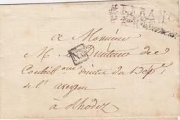 LETTRE. POUR RODEZ AVEYRON. FRANCHISE MINISTERE DES FINANCES. AFFRANCHI PAR L'ETAT.  N° 3 - 1801-1848: Vorläufer XIX