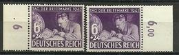 3.Reich: 2x Nr. 811, Postfrisch - Unused Stamps