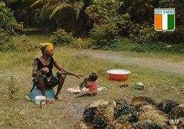 1 AK Elfenbeinküste - Côte D'Ivoire * Verkauf Von Zwergpalmen - Palmiste - Palmetto - IRIS Karte Nummer 7518 * - Elfenbeinküste