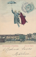 CHAUFFAILLES - UNE EXCURSION A CHAUFFAILLES - PLACE DE L'EGLISE - France