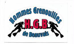 Autocollant Hommes Grenouilles De Beauvais - Plongée